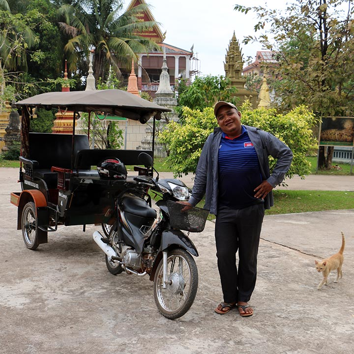 Suth Si Leng with his Tuk Tuk